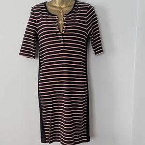 Gap striped midi dress size medium